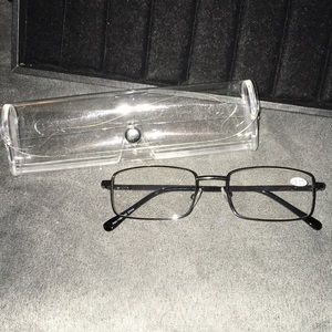 Accessories - +3.00 diopter reading glasses with wire rim frames